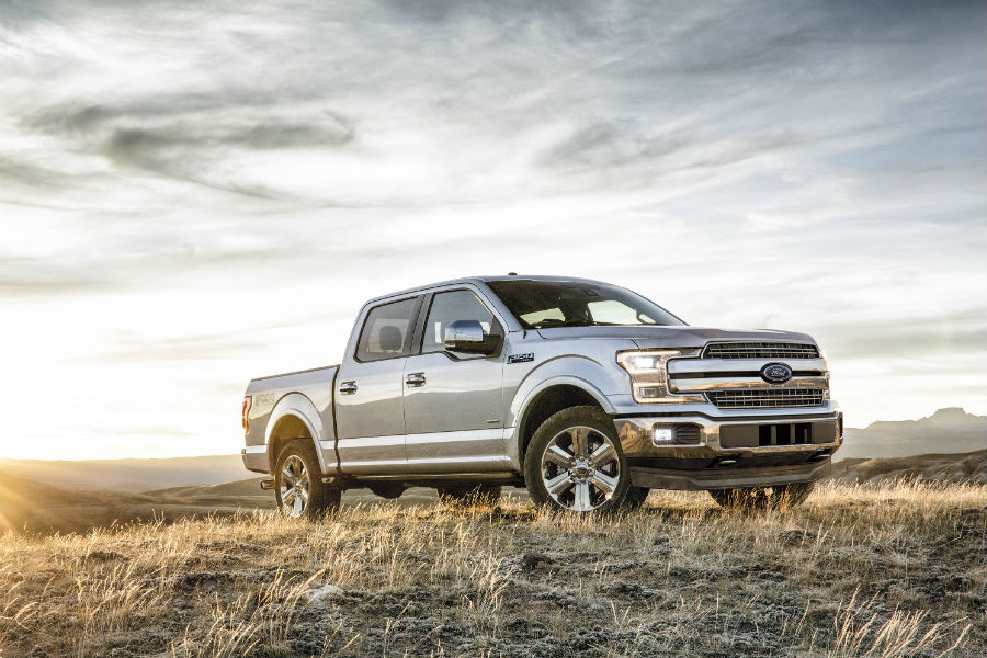 2018 Ford F 150 Lariat On A Field