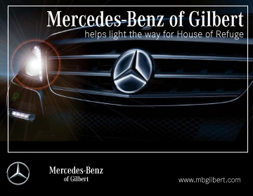 Ad for Mercedes-Benz of Gilbert at the Light the Night Gala 2018