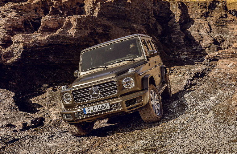 2019 G-Class driving off-road front view