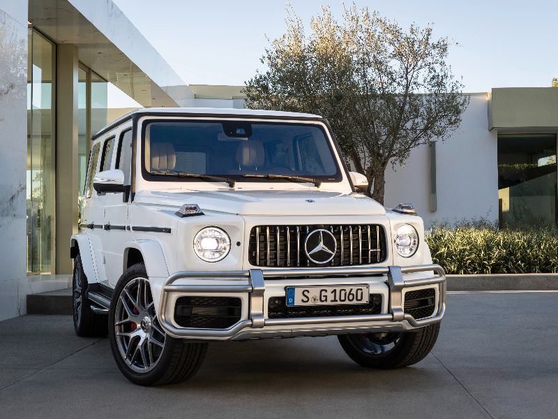 2019 mercedes-amg g 63 front view parked