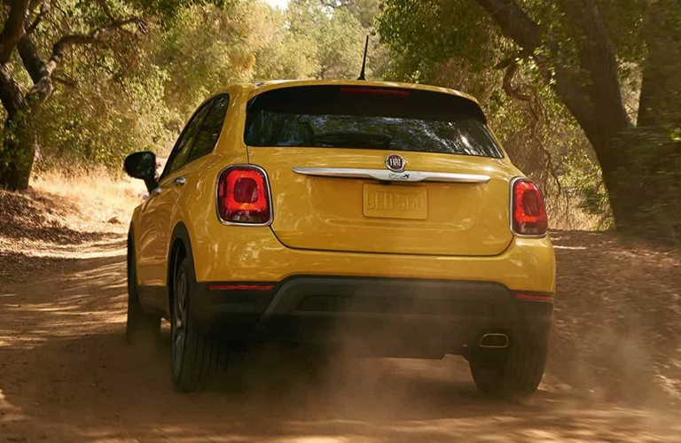 rear view of 2018 Fiat 500X