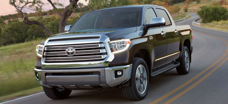 2018 Toyota Tundra black front view