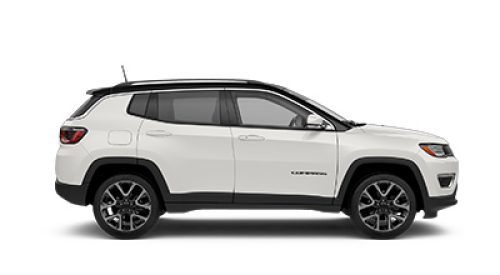 2018 Jeep Comp White Side View