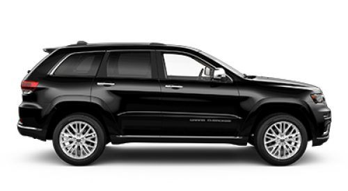 2018 Jeep Grand Cherokee black side view