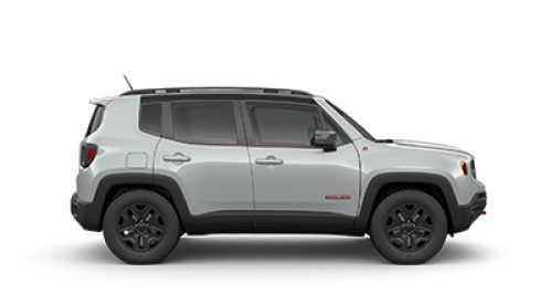 2018 Jeep Renegade Silver side view