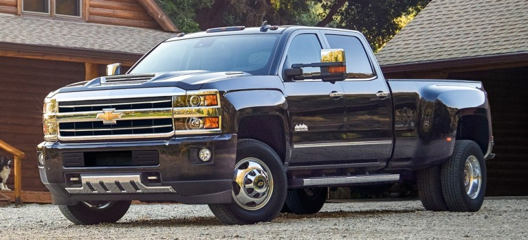 2019 Chevy Silverado HD black side view