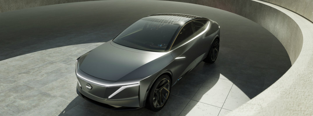 nissan electric sedan concept car