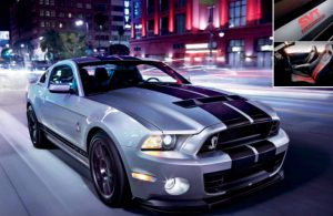 2013 Ford Mustang Shelby® GT500® driving on a city road