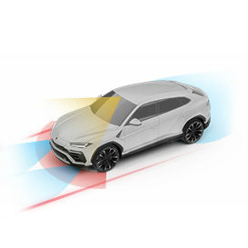 2018 Lamborghini Urus Advanced Driver Assistance Systems Packages Simulation