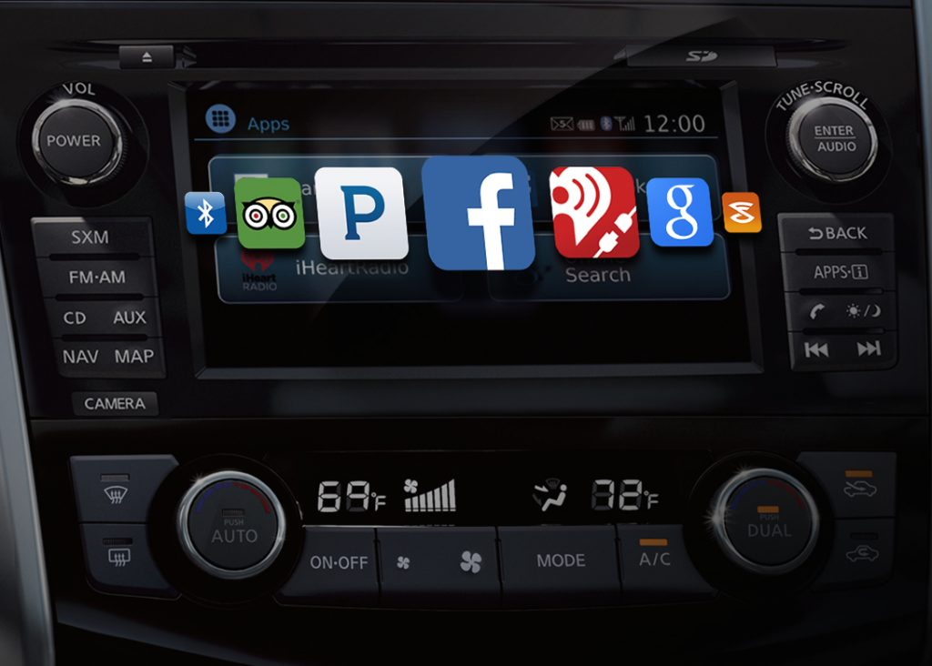 apps that NissanConnect can access