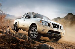 2018 Nissan Frontier parked on dirt