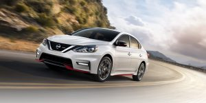 2018 Nissan Sentra NISMO driving around a curve