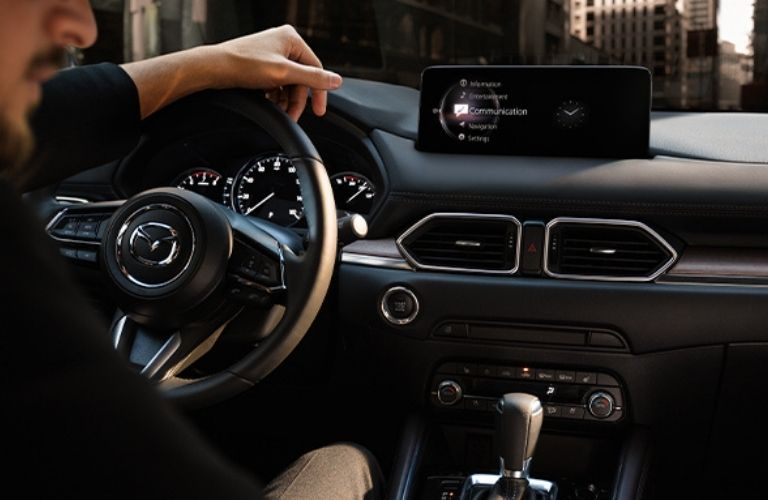 The inside view of the 2021 Mazda CX-5.