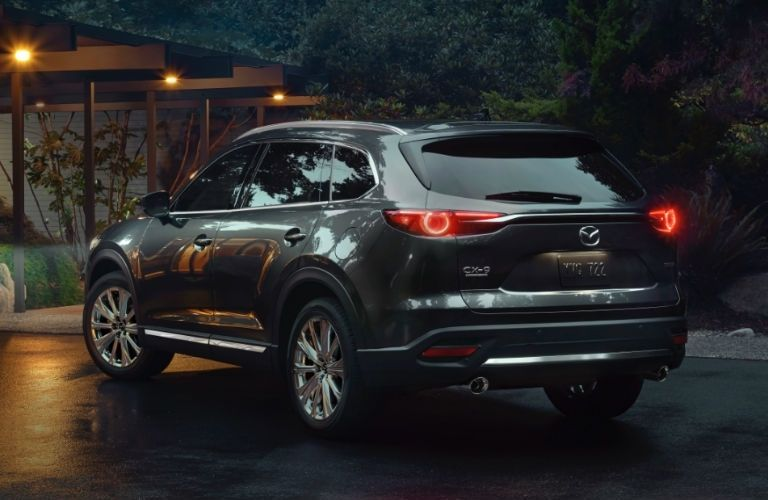 The back view of the 2021 Mazda CX-9.