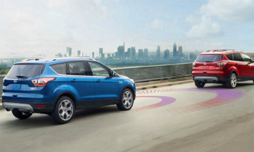 Stylized view of 2018 Ford Edge using Radar Cruise Control