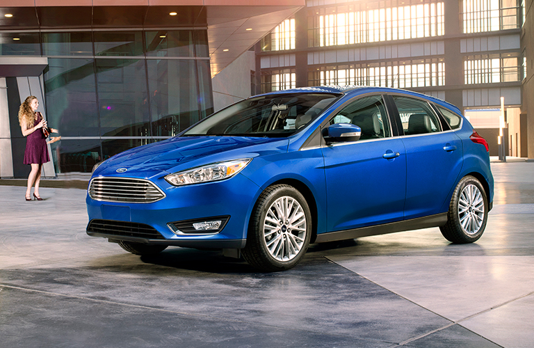 2018 Ford Focus parked in front of entryway