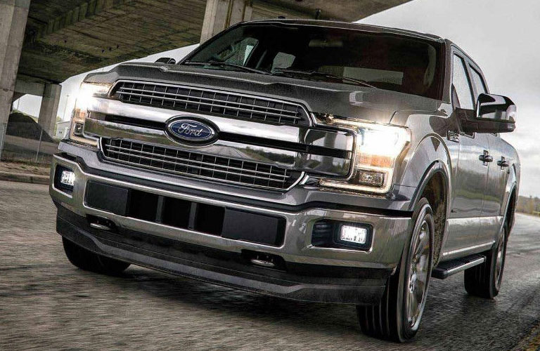 Front grille and headlights of 2018 Ford F-150