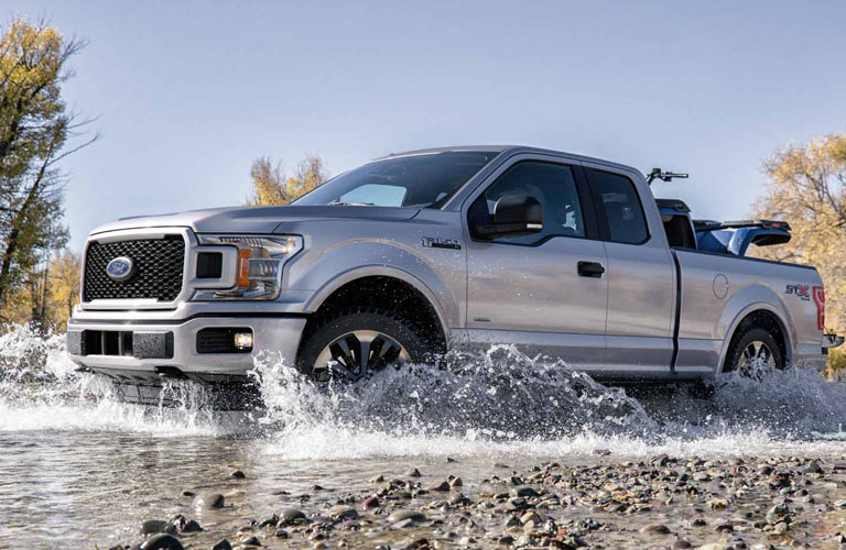 2018 Ford F-150 driving through standing water