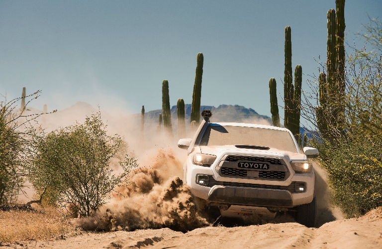 Front End View of 2019 Toyota Tacoma TRD Pro in White