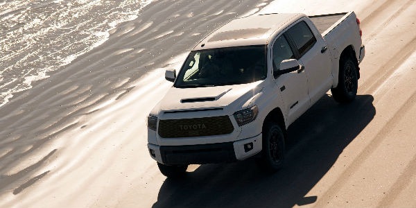 2019 Toyota Tundra TRD Pro Exterior View Driving Down Beach Road