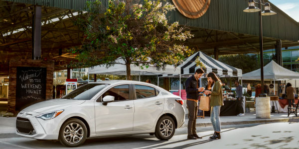 Exterior View of the 2019 Toyota Yaris in White