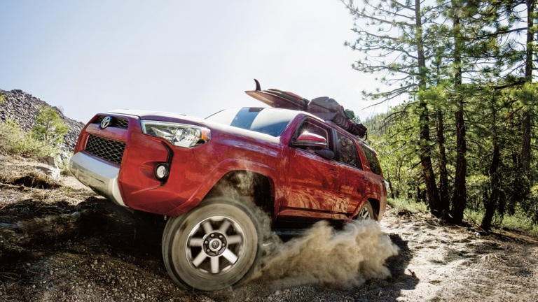 red 2018 Toyota 4Runner front side view