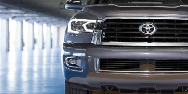 2018 Toyota Sequoia Close-up View of Front Exterior