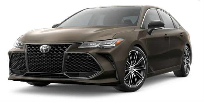 2019 Toyota Avalon Front View of Brownstone
