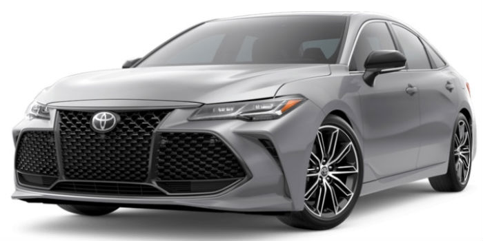 2019 Toyota Avalon Front View of Celestial Silver