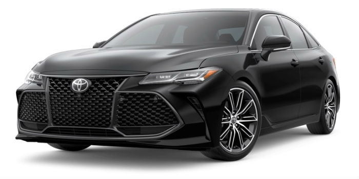 2019 Toyota Avalon Front View of Midnight Black