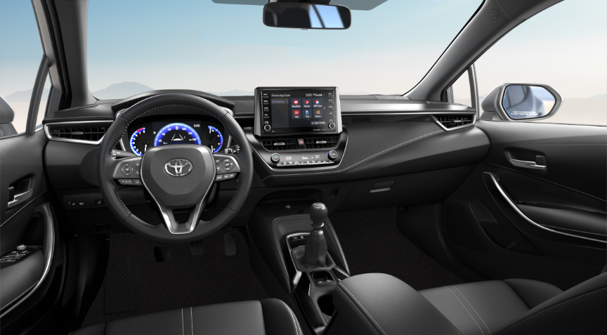 2019 Toyota Corolla Hatchback XSE with Black Combination Leather