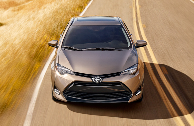 2019 Toyota Corolla Overhead View of Silver Exterior