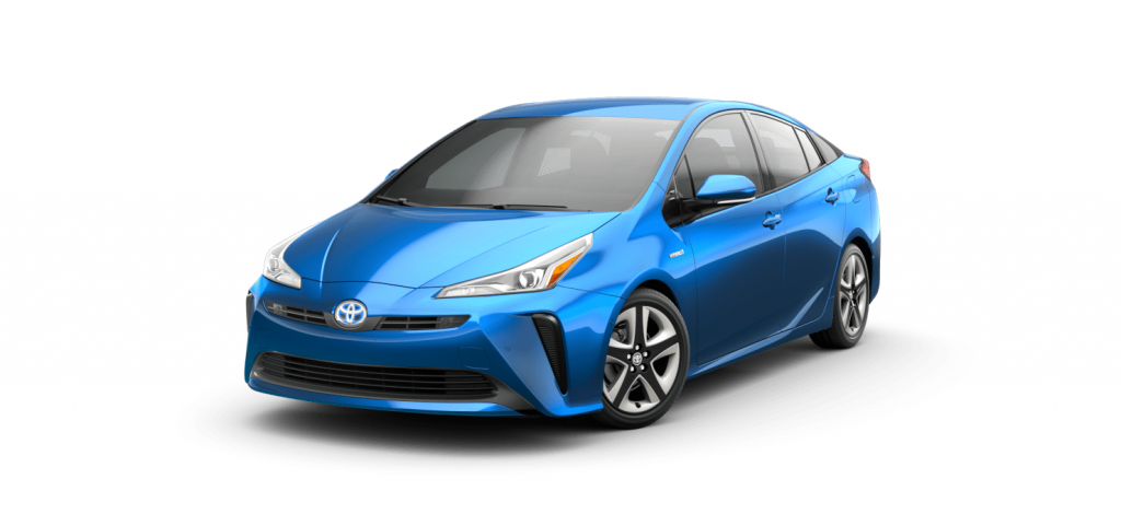 prius in electric storm blue