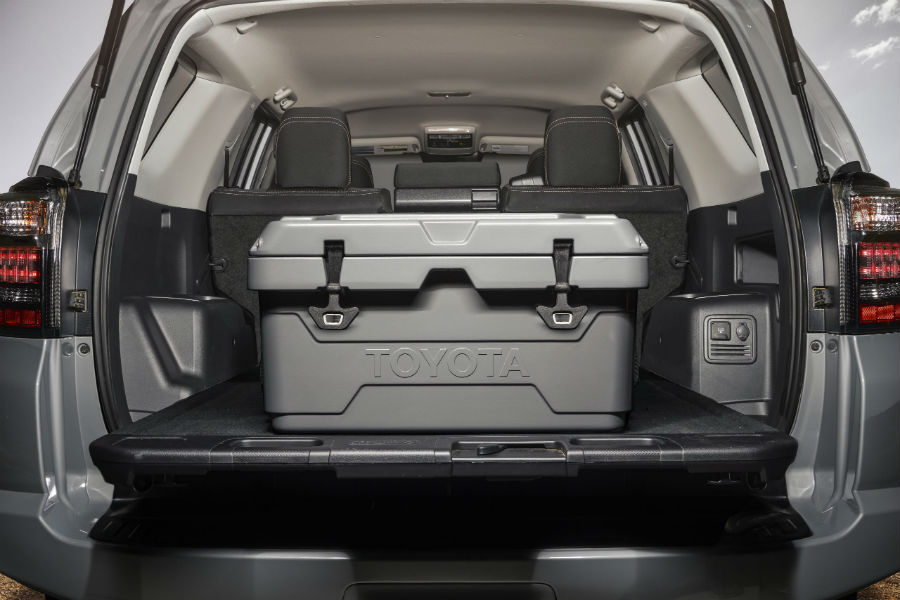 A photo of the 40-quart cooler available with the 2021 Toyota 4Runner Trail.