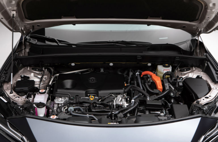 A photo of the hybrid engine used by the 2021 Toyota Venza.