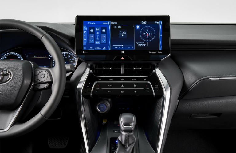 A photo of the available technology found in the 2021 Toyota Venza.