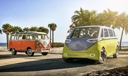 I.D. BUZZ concept electric MPV and VW Bus T1
