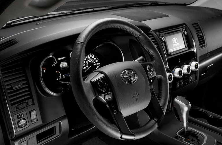 2018 Toyota Sequoia dash and wheel view