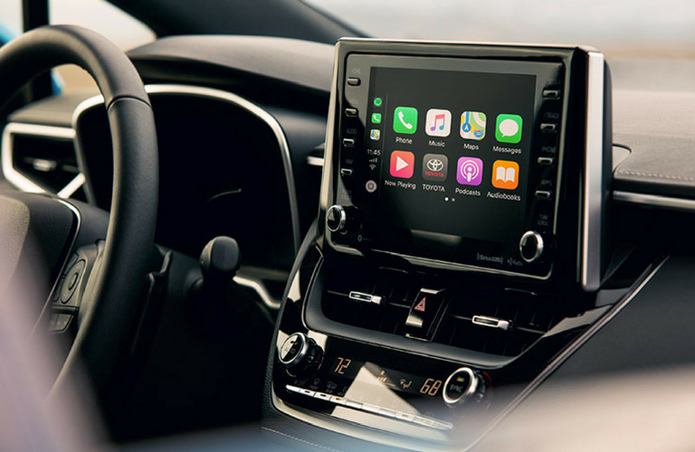 2019 Toyota Corolla Hatchback dash and touch screen